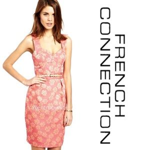 French Connection Fantasy Jacquard Bustier Dress